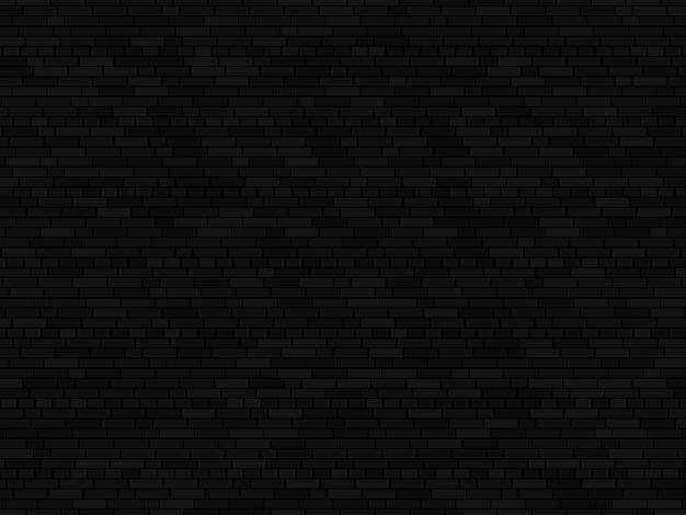 Czarny ceglany mur tło. tekstura ściana z cegieł wektor