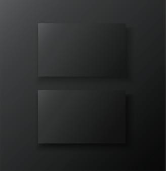 Czarny dwustronny szablon karty
