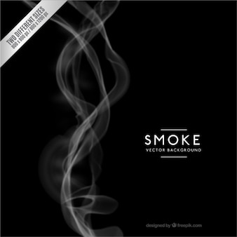 Czarny dym tle