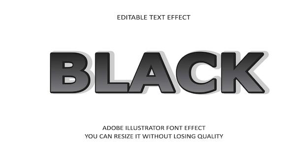 Czarny edytowalny tekst efekt