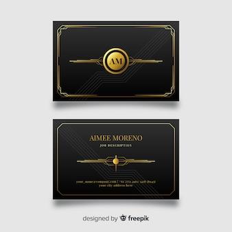 Czarny elegancki wizytówka szablon
