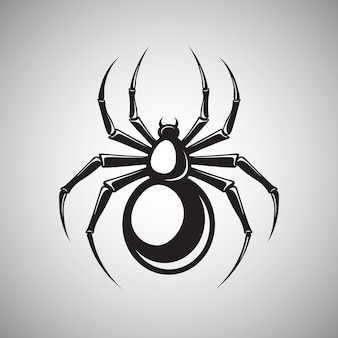 Czarny emblemat pająka
