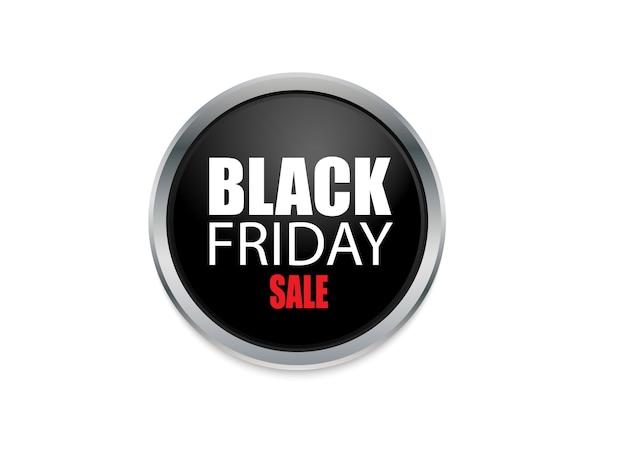 Czarny firday na reklamie projektu przycisku