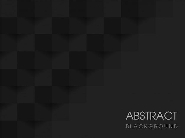 Czarny geometryczny abstrakcjonistyczny tło 3d. wektorowa ilustracja eps10.