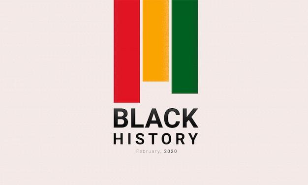 Czarny historia miesiąc czerwone, żółte i zielone paski