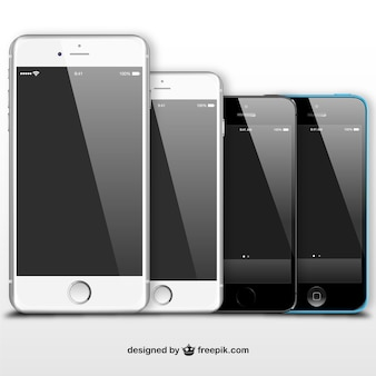 Czarny i biały iphone