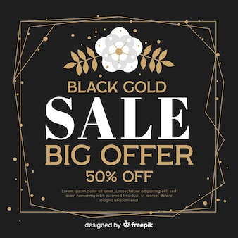 Czarny i złoty tło sprzedaży