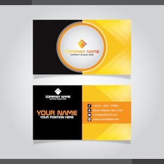 Czarny I żółty Szablon Wizytówki Premium Wektorów
