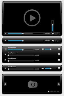 Czarny interfejs dla odtwarzacza multimedialnego