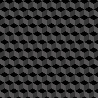 Czarny izometryczny wzór bez szwu