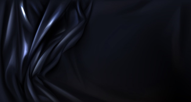 Czarny jedwab, lateks składany tło tkaniny, tkaniny