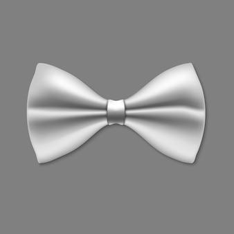 Czarny łęk krawat odizolowywający na bielu.