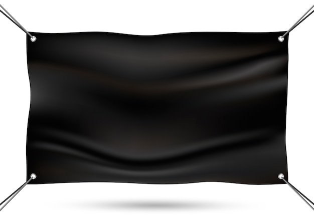 Czarny makiety banner winylu