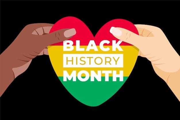 Czarny miesiąc historii afroamerykanów ilustracja historii
