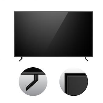 Czarny modern tv makieta
