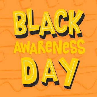 Czarny napis dnia świadomości