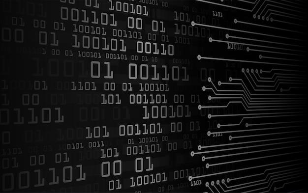 Czarny obwód cyber przyszłości koncepcja technologii