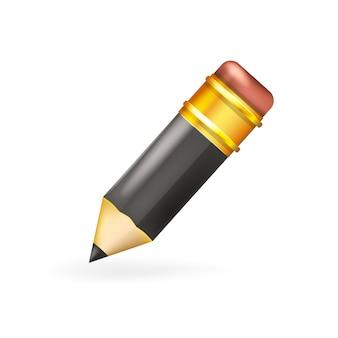 Czarny ołówek do dekoracji pierwszy września, szkoła, lekcje