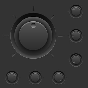 Czarny panel sterowania