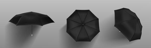 Czarny parasol automatyczny z przodu