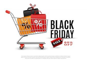 Czarny piątek sprzedaż plakat