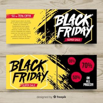 Czarny piątek szablony bannerów sprzedaży