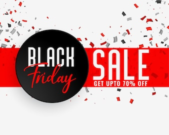 Czarny piątek transparent celebracja sprzedaży