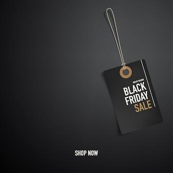 Czarny piątek baner lub szablon tagu dla sieci.