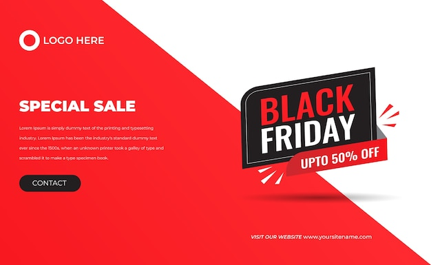 Czarny piątek duża wyprzedaż 3d specjalna ograniczona czasowo oferta baner rabatowy procentowy na mega sprzedaż i projekt etykiety z ceną dla postów w mediach społecznościowych premium