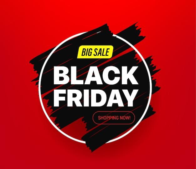 Czarny piątek duży baner sprzedaży