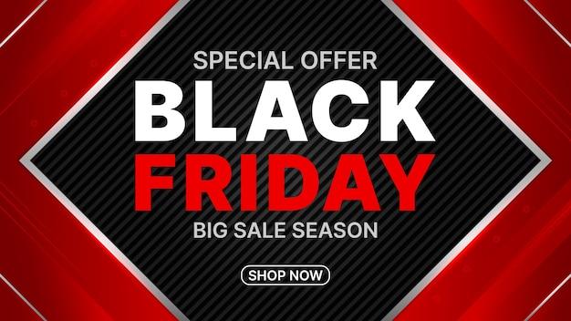 Czarny piątek duży transparent sezonu sprzedaży.