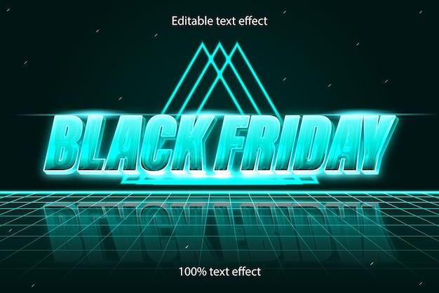 Czarny piątek edytowalny efekt tekstowy retro w nowoczesnym stylu