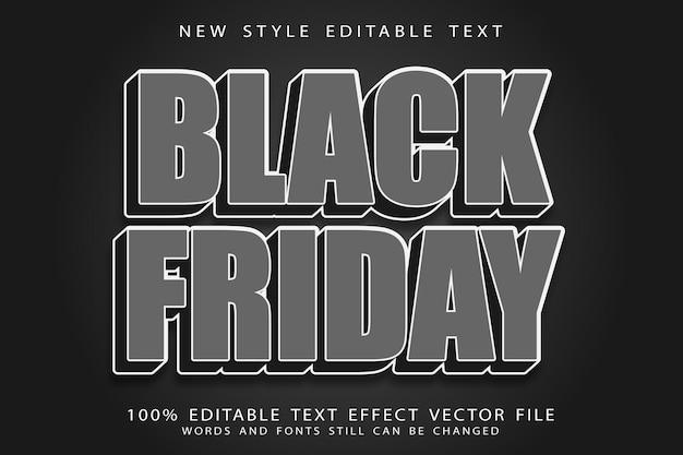 Czarny piątek edytowalny efekt tekstowy w stylu vintage
