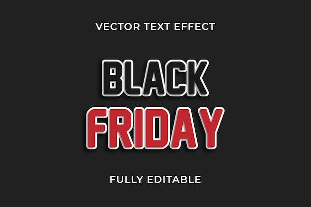 Czarny piątek efekt tekstowy
