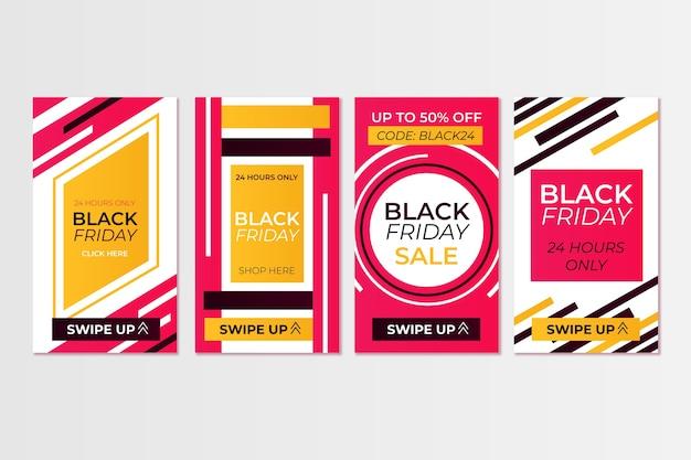 Czarny piątek kolekcja historii na instagramie