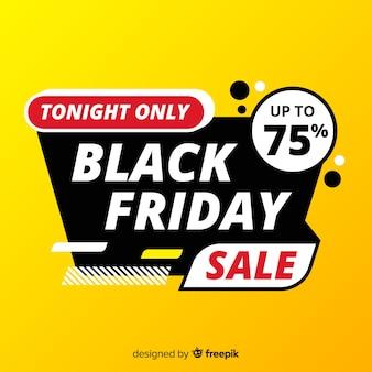 Czarny piątek koncepcja ze sprzedażą tylko dziś wieczorem