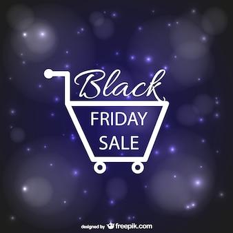 Czarny piątek koszyk sprzedaż zakupy