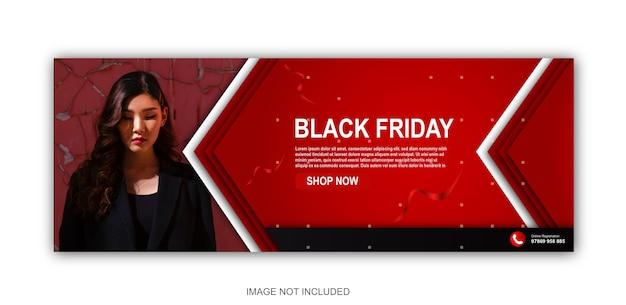 Czarny piątek moda szablon transparent okładki mediów społecznościowych