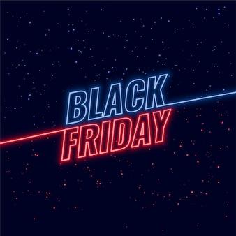 Czarny piątek niebieski i czerwony neon