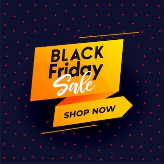 Czarny piątek nowoczesny sprzedaż transparent na zakupy online