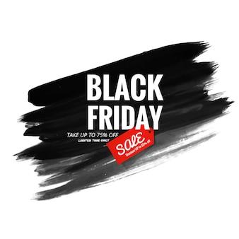 Czarny piątek nowoczesny sprzedaż transparent