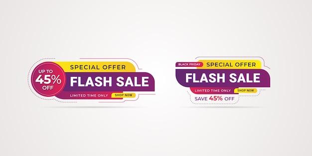 Czarny piątek oferta specjalna sprzedaż promocyjna szablon transparent