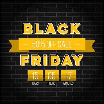 Czarny piątek oferta specjalna sprzedaż transparent.