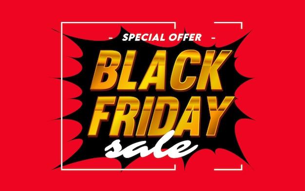 Czarny piątek oferta specjalna szablon transparentu sprzedaży
