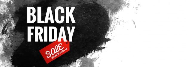 Czarny piątek plakat lub baner