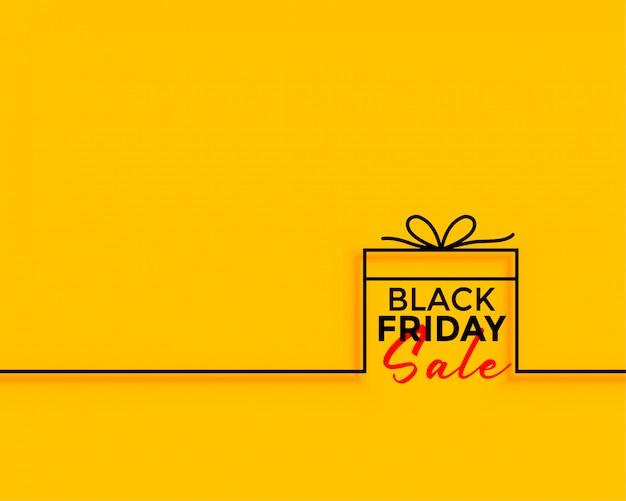 Czarny piątek prezent sprzedaż minimalne tło