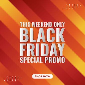 Czarny piątek promocyjny transparent z kulkami 3d