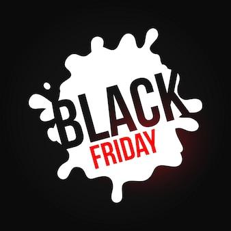 Czarny piątek. proste typografia na czarnym tle