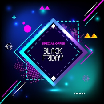 Czarny piątek specjalne flash sprzedaż kreatywnych geometrii banner