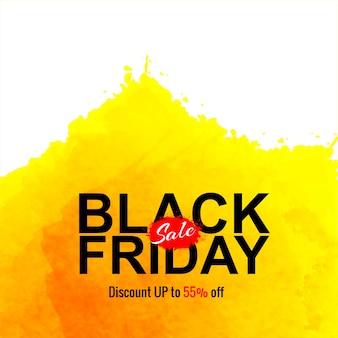 Czarny piątek sprzedaż akwareli